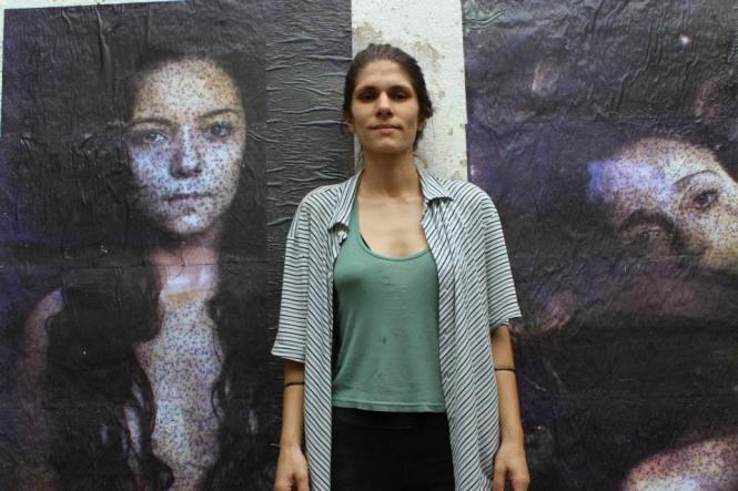 Intervenção artística de Renata Ibis.