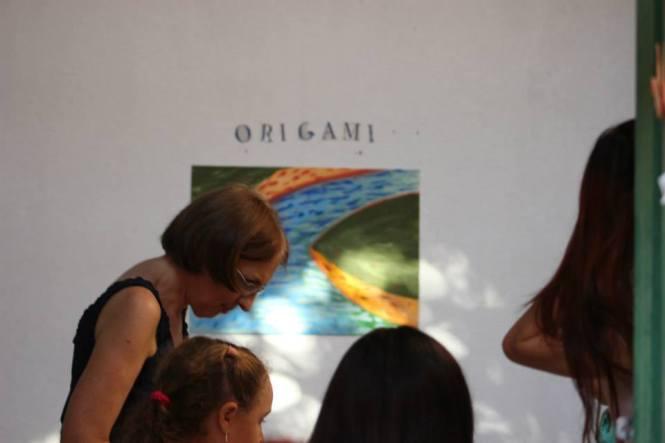 Oficina de origami com Barbara Benz.