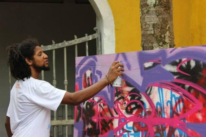 Graffiti com Fábio Eros.