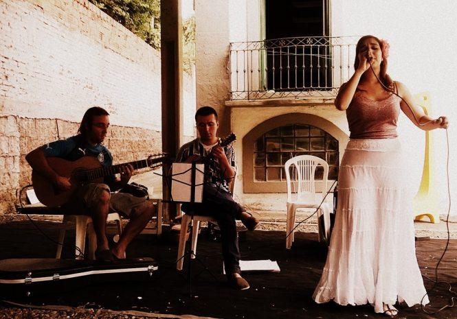 Apresentação musical de Juliana Rosenthal