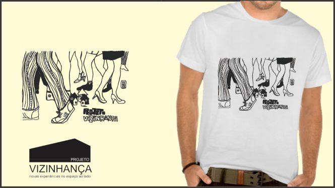 Camiseta com ilustração de Diego Ferrer.